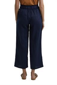 Aus 100% Leinen: Culotte mit elastischem Bund