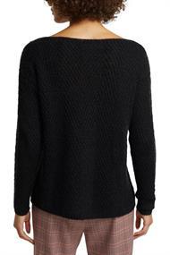 Aus Woll-Mix: Pullover mit Struktur