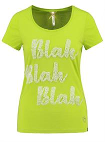 BLAH - Statement T-Shirt mit Pailletten-Druck