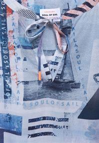 Bluse mit maritimen Print