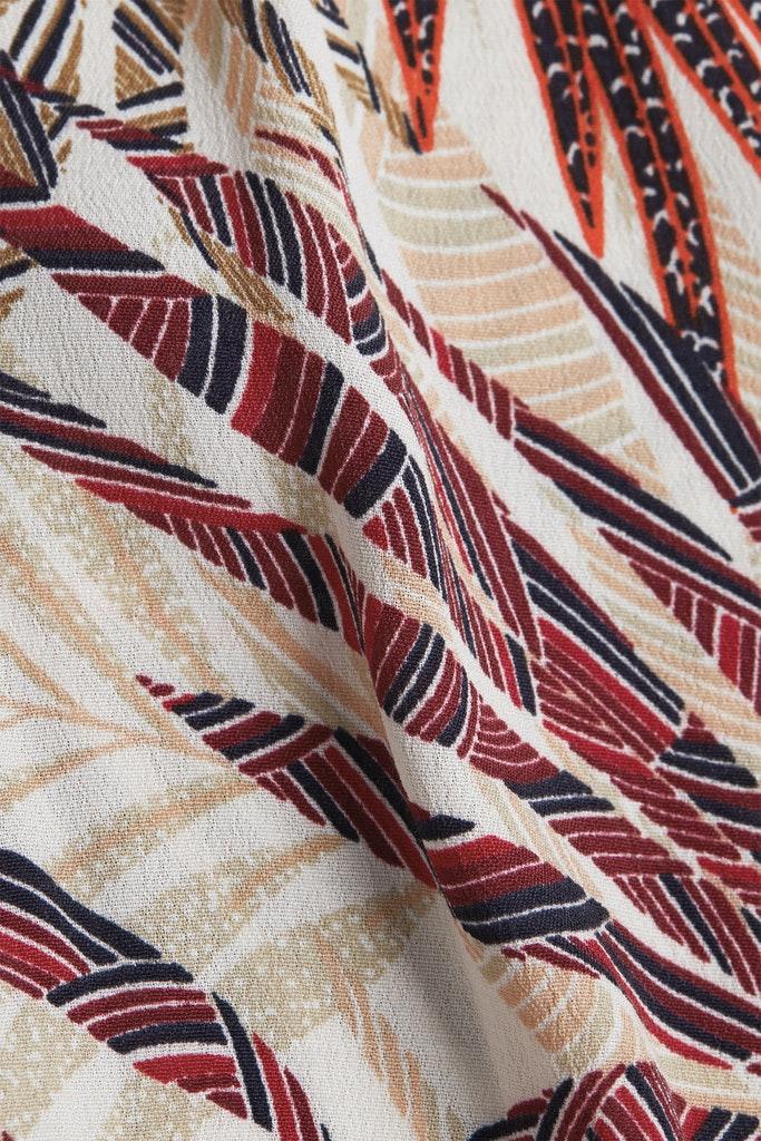 Blusen-Top mit Palmen-Print