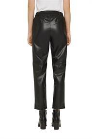 Cropped Hose in Leder-Optik mit Kordelzugbund