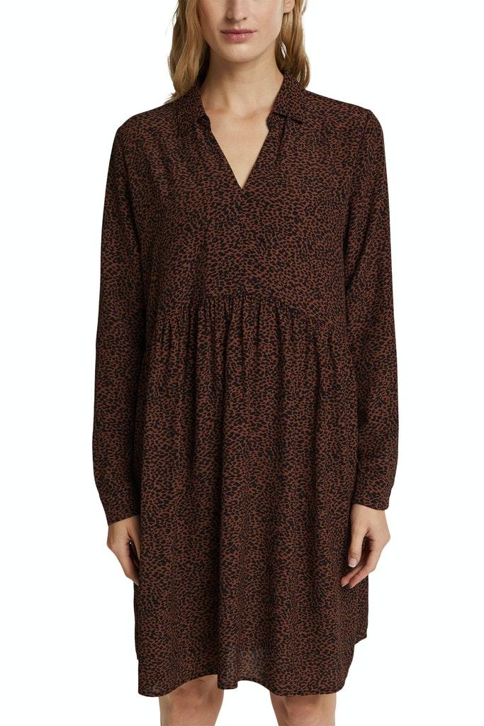 Hemdblusen-Kleid mit Print