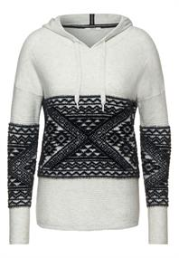 Hoodie-Pullover mit Muster