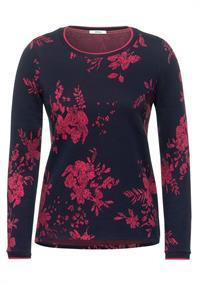 Jacquard-Shirt mit Blumen