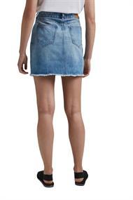 Jeans-Rock mit Used-Details, 100% Bio-Baumwolle