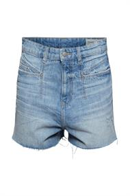 Jeans-Shorts mit hohem Bund, Bio-Baumwolle