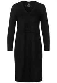 Kleid mit Velours-Front
