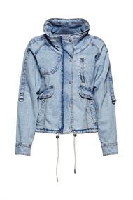 Leinen/Organic Cotton: leichte Jeansjacke