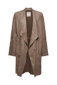Mantel in Leder-Optik