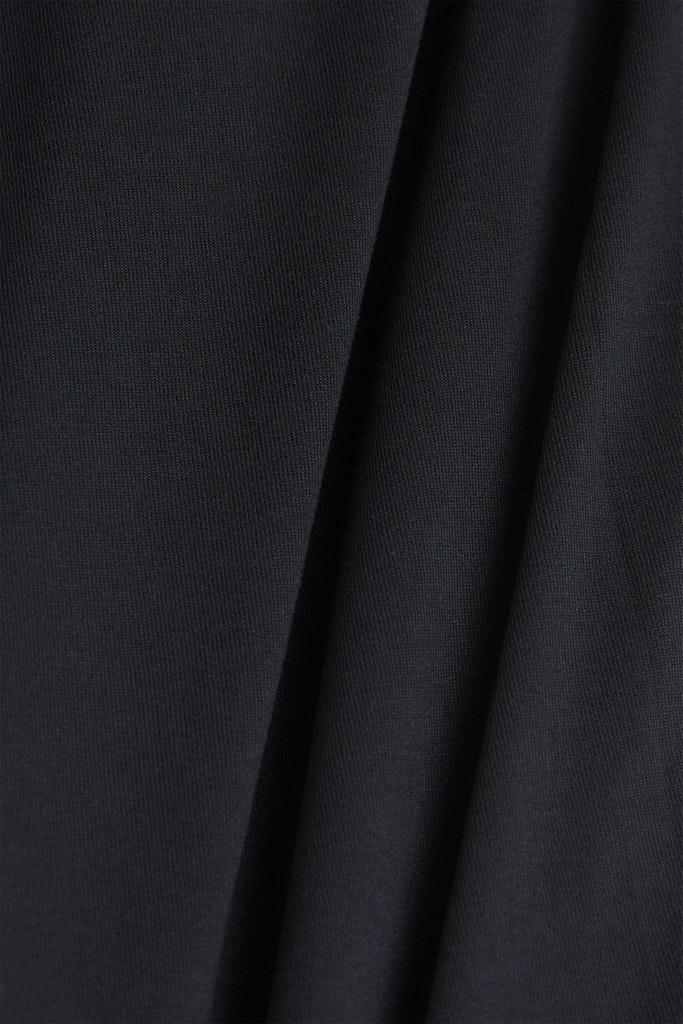 Material-Mix-Shirt im Blusen-Stil