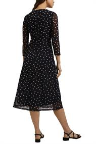 Mesh-Kleid mit Punkte-Print