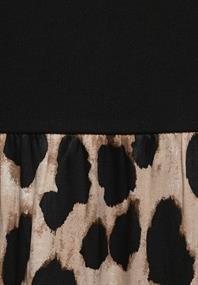 Midi-Kleid mit Leo-Rock