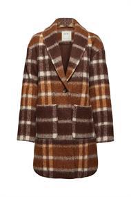 Mit recycelter Wolle: Mantel im Karo-Look