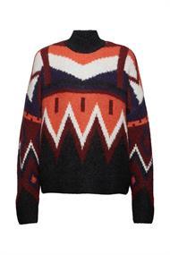 Mit Wolle/Alpaka: Stehkragen-Pullover