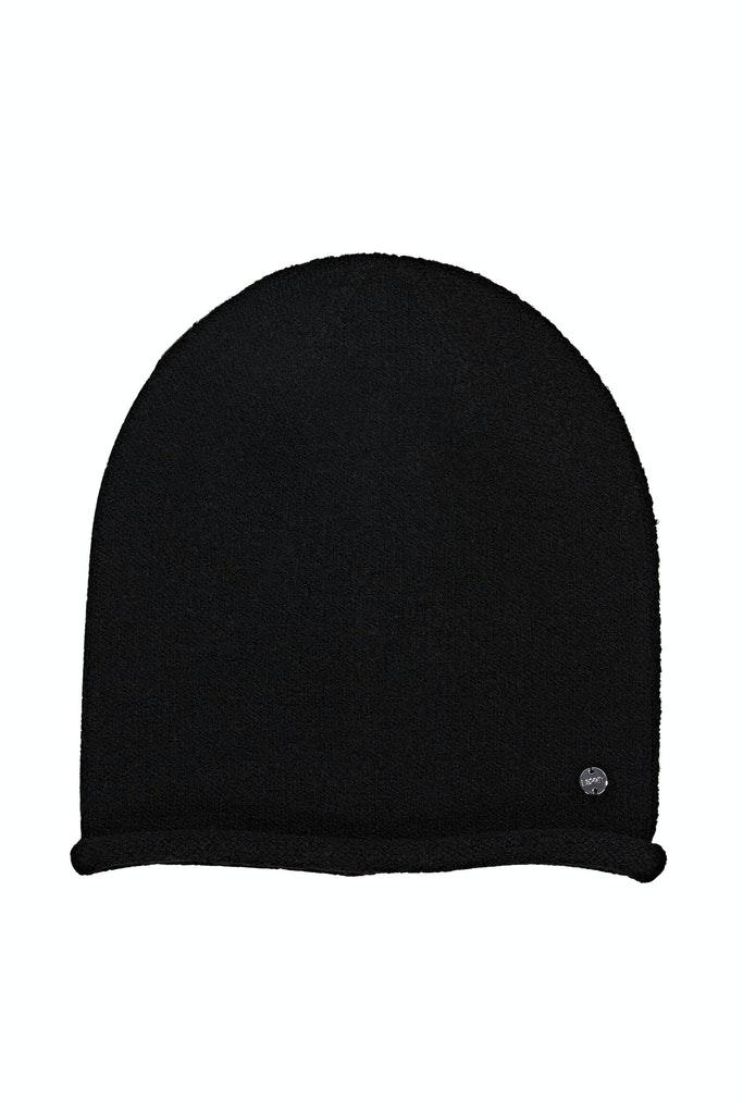 Mit Wolle: Mütze mit Rollkante