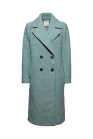 Mit Wolle: Mantel mit breitem Reverskragen
