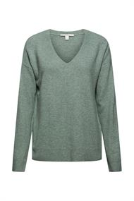 Mit Wolle: V-Neck-Pullover