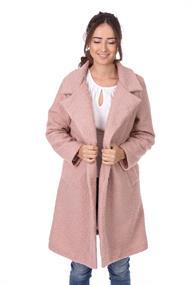 Modischer Mantel in gekräuselter Wolloptik