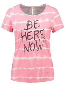 NOW - Bedrucktes Rundhals T-Shirt mit Pailletten-Schriftzug