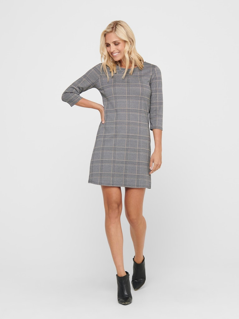 ONLBRILLIANT 3/4 CHECK DRESS NOOS