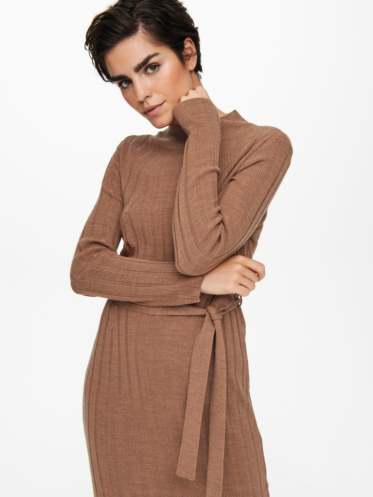 ONLNEW TESSA L/S HIGHNECK DRESS KNT