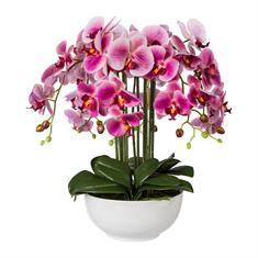 Orchidee rose mit Keramikschale 54cm, Kunstpflanze