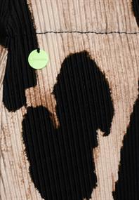 Plissée-Rock mit Muster