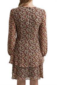Recycelt: Chiffon-Kleid mit Blumen-Print