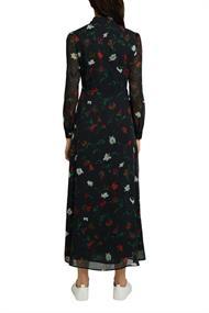 Recycelt: Crinkle-Kleid mit Print