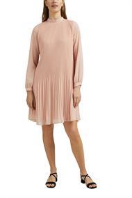 Recycelt: plissiertes Kleid aus Crêpe-Chiffon