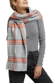 Recycelt: Schal mit Web-Karo