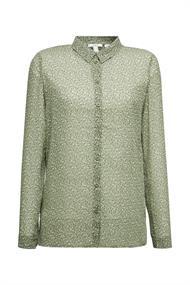 Recycelt: transparente Chiffon-Bluse