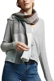 Recycelt: Web-Schal mit Karo