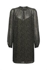 Recycled: Chiffon-Kleid mit Print