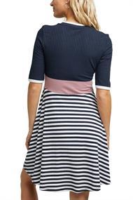 Rippstrick-Kleid im Streifen-Look