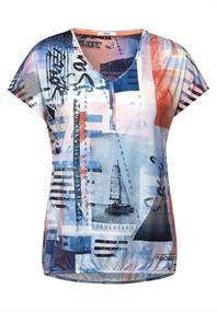Shirt mit maritimen Print