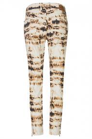 """Skinny Ankle Zip"" mit modischem Batik-Muster"