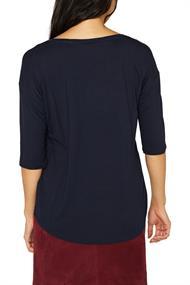 Stretch-Shirt mit V-Ausschnitt