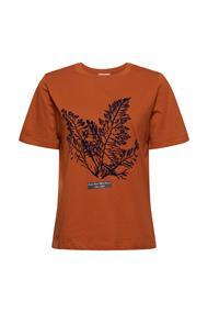 T-Shirt mit Flock-Print, 100% Bio-Baumwolle