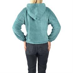 Teddyfell-Pullover mit Kapuze
