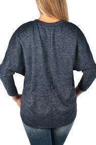 U&F Melierter Pullover mit Fledermaus-Ärmel
