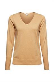 V-Neck-Pullover mit Organic Cotton