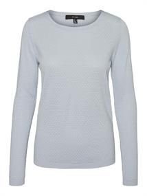 VMCARE STRUCTURE LS O-NECK BLOUSE GANOOS