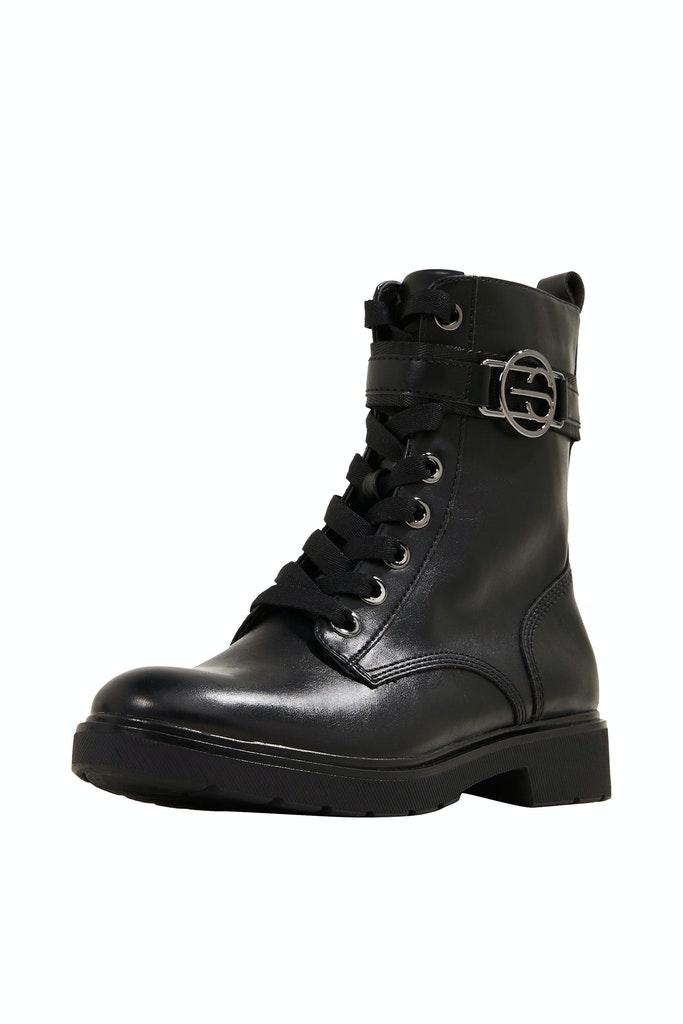 Worker Boots in Leder-Optik